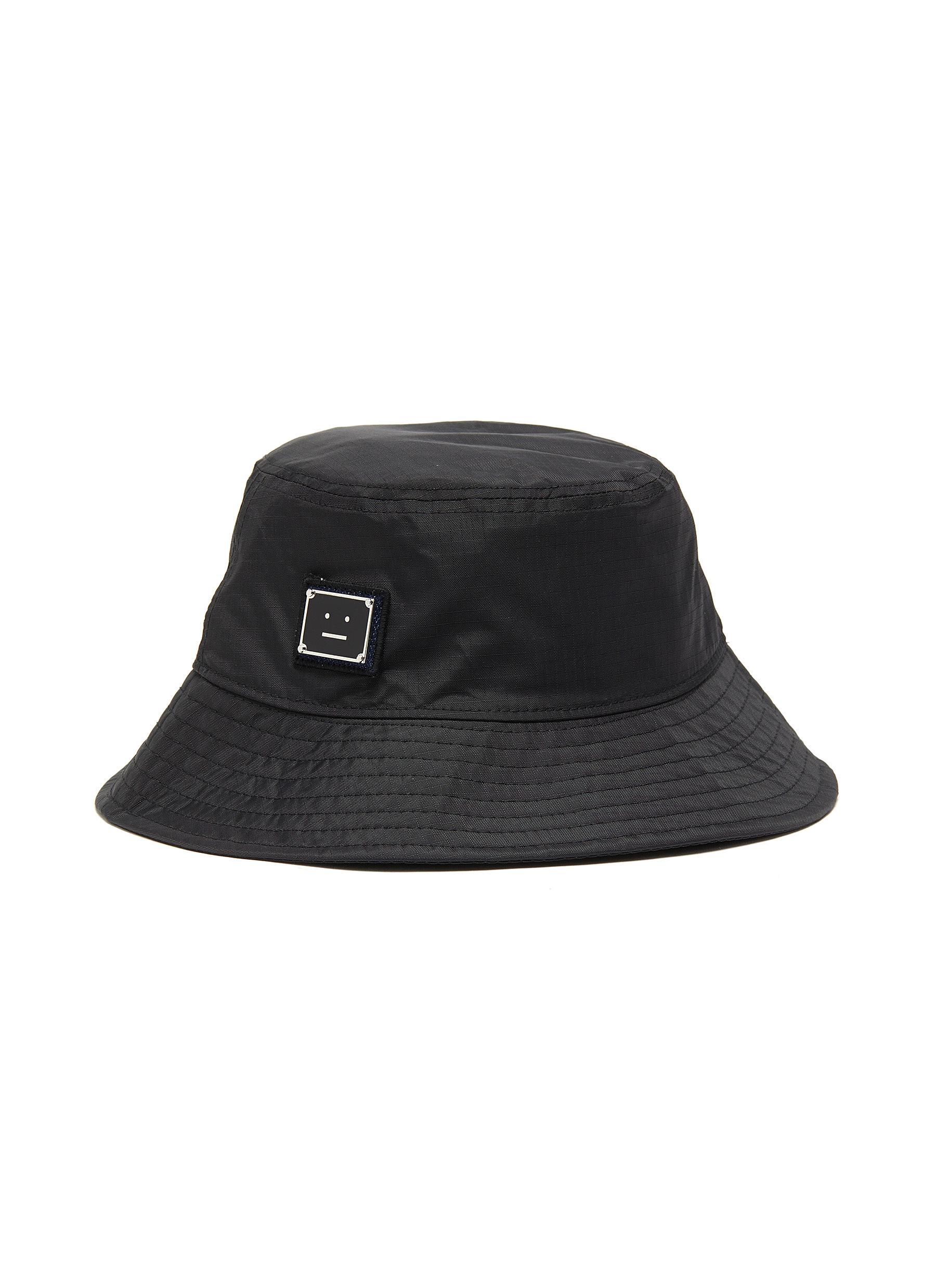 Acne Studios Hats FACE PLAQUE NYLON BUCKET HAT