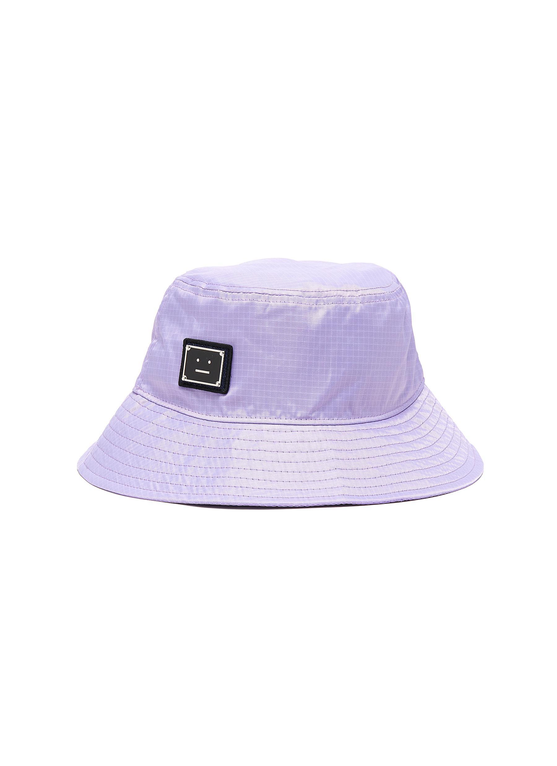 Acne Studios FACE PLAQUE NYLON BUCKET HAT