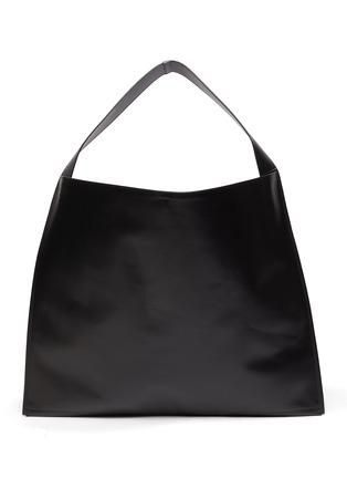 Main View - Click To Enlarge - JIL SANDER - 'Border' leather hobo bag