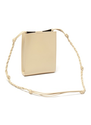 Detail View - Click To Enlarge - JIL SANDER - 'Tangle' braided shoulder strap leather small crossbody bag