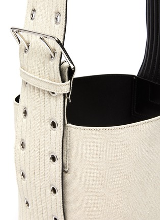 Detail View - Click To Enlarge - JIL SANDER - Buckled quilted leather strap hobo bag