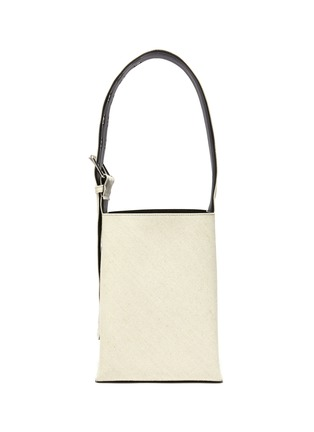 Main View - Click To Enlarge - JIL SANDER - Buckled quilted leather strap hobo bag
