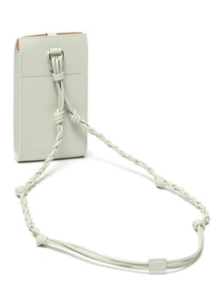 Detail View - Click To Enlarge - JIL SANDER - 'Tangle' braided strap leather phone case