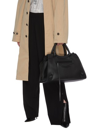 Front View - Click To Enlarge - BALENCIAGA - 'Neo Classic City' leather shoulder bag