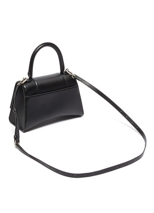 Detail View - Click To Enlarge - BALENCIAGA - 'Hourglass Small' leather shoulder bag