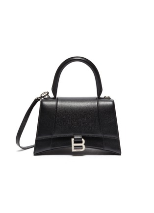 Main View - Click To Enlarge - BALENCIAGA - 'Hourglass Small' leather shoulder bag