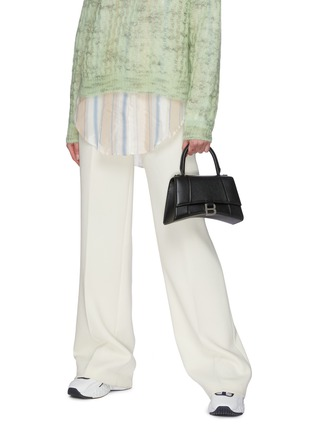 Figure View - Click To Enlarge - BALENCIAGA - 'Hourglass Small' leather shoulder bag