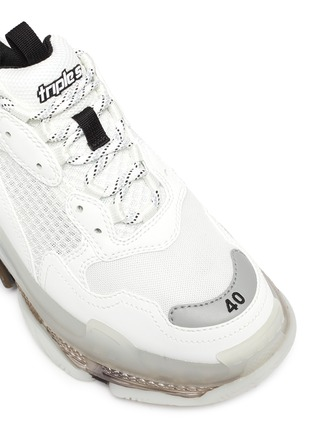 Detail View - Click To Enlarge - BALENCIAGA - Triple S' Duo-tone Translucent Platform Sole Sneakers