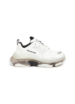 Main View - Click To Enlarge - BALENCIAGA - Triple S' Duo-tone Translucent Platform Sole Sneakers