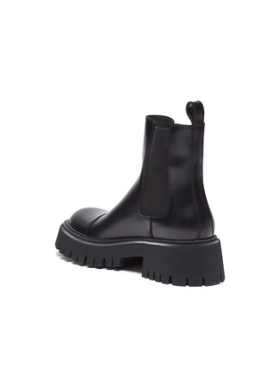 - BALENCIAGA - Tractor' chunky outsole leather chelsea boots