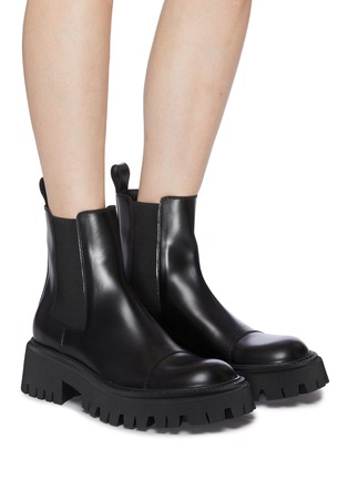 Figure View - Click To Enlarge - BALENCIAGA - Tractor' chunky outsole leather chelsea boots