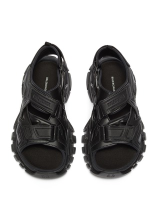Detail View - Click To Enlarge - BALENCIAGA - Logo embossed velcro strap track sandals