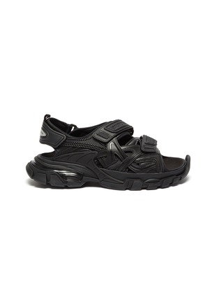 Main View - Click To Enlarge - BALENCIAGA - Logo embossed velcro strap track sandals