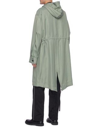 Back View - Click To Enlarge - OAMC - Drawstring waist fishtail parka