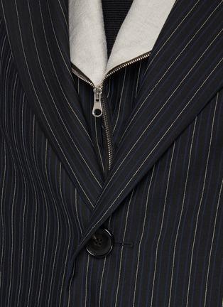 - KIKO KOSTADINOV - Pinstripe tailored long coat