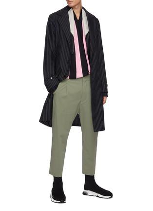 Figure View - Click To Enlarge - KIKO KOSTADINOV - Pinstripe tailored long coat