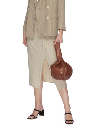 Figure View - Click To Enlarge - LEMAIRE - 'Purse' Knotted Top Handle Leather Bag