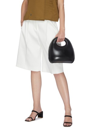 Front View - Click To Enlarge - LEMAIRE - 'Egg' Sculpted Leather Bag