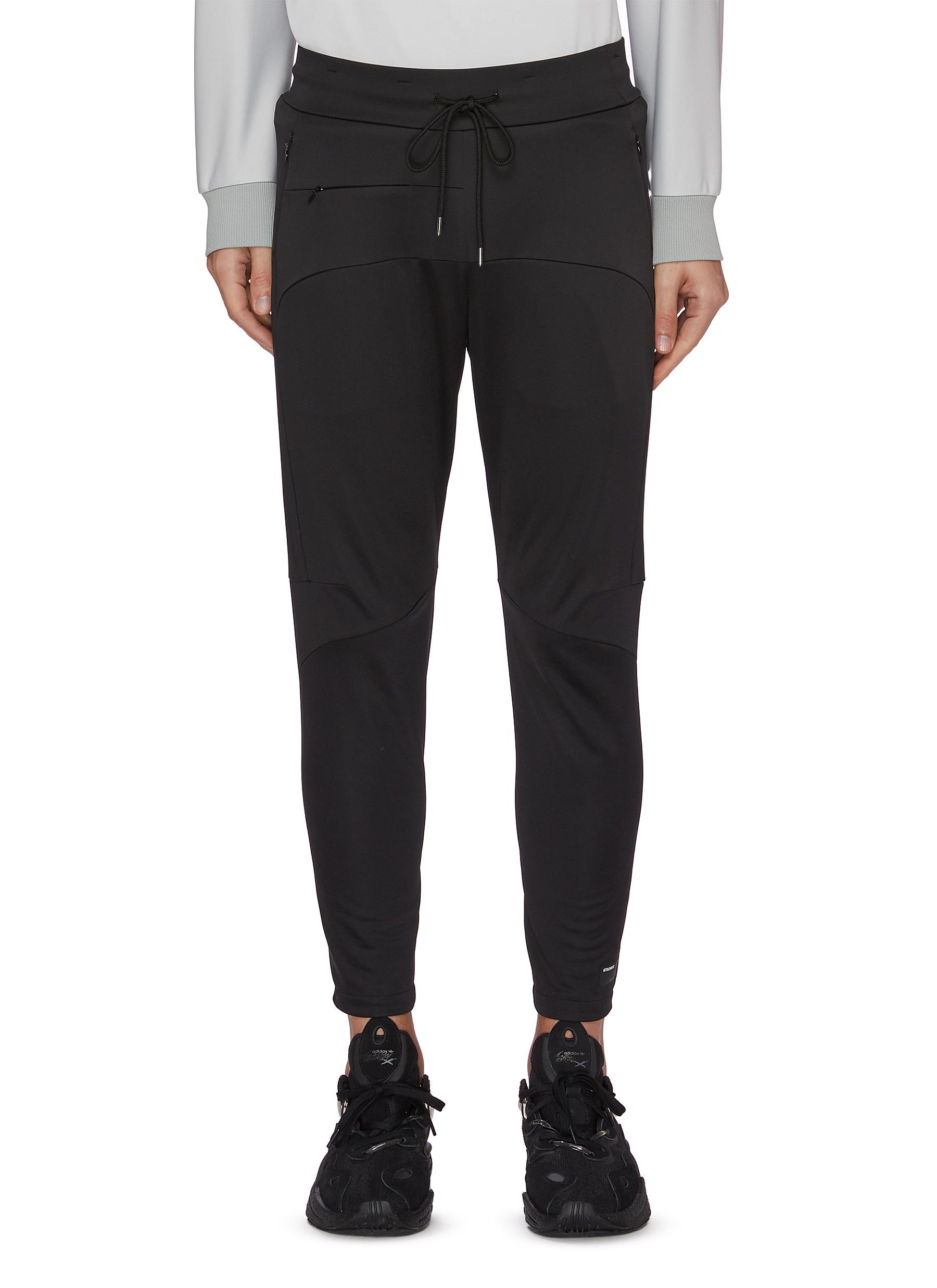 Attachment Drawstring Zip Detail Sweatpants In Black