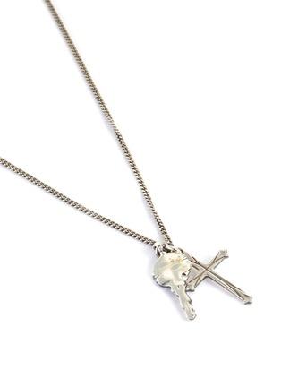 Detail View - Click To Enlarge - EMANUELE BICOCCHI - Cross Key Silver Pendant Necklace