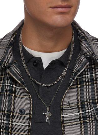 Figure View - Click To Enlarge - EMANUELE BICOCCHI - Cross Key Silver Pendant Necklace