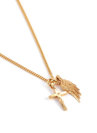 Detail View - Click To Enlarge - EMANUELE BICOCCHI - Cross Wing 24k Gold Plate Pendant Necklace