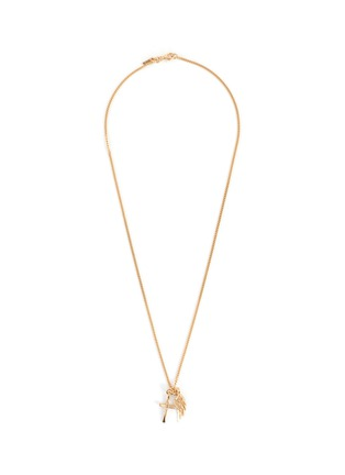 Main View - Click To Enlarge - EMANUELE BICOCCHI - Cross Wing 24k Gold Plate Pendant Necklace