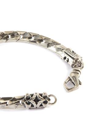 Detail View - Click To Enlarge - EMANUELE BICOCCHI - Herringbone Chain Silver Bracelet