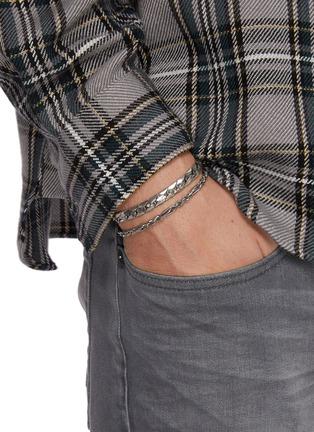 Figure View - Click To Enlarge - EMANUELE BICOCCHI - Herringbone Chain Silver Bracelet