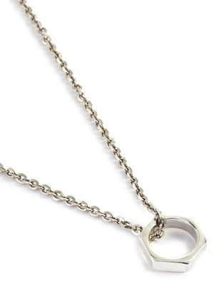 Detail View - Click To Enlarge - EMANUELE BICOCCHI - Hexagonal Nut Silver Pendant Necklace