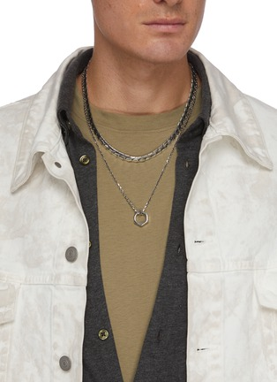 Figure View - Click To Enlarge - EMANUELE BICOCCHI - Hexagonal Nut Silver Pendant Necklace