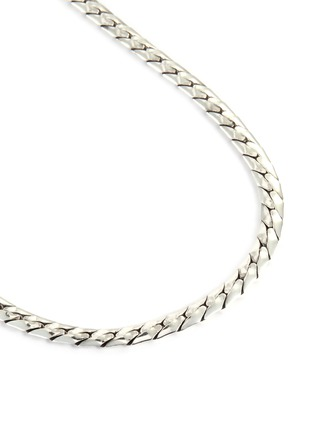 Detail View - Click To Enlarge - EMANUELE BICOCCHI - Herringbone Chain Silver Necklace