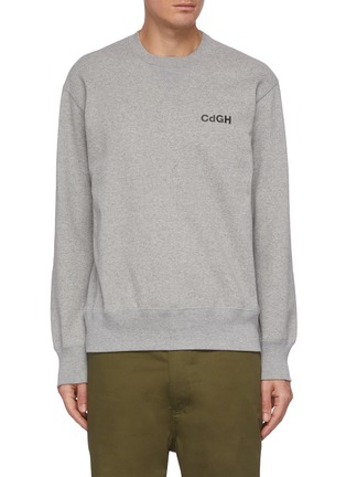 Main View - Click To Enlarge - COMME DES GARÇONS HOMME - CDGH logo print sweatshirt