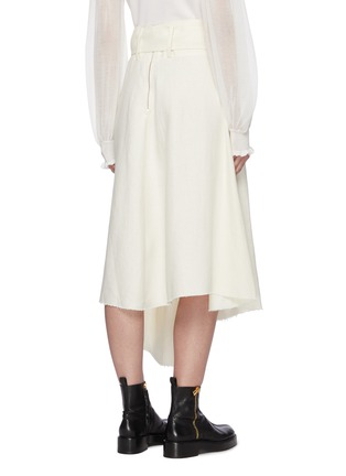 Back View - Click To Enlarge - JW ANDERSON - Raw asymmetric hem D ring belt skirt