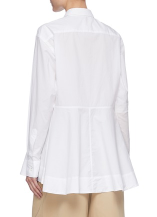 Back View - Click To Enlarge - JW ANDERSON - Flare hem panel cotton shirt