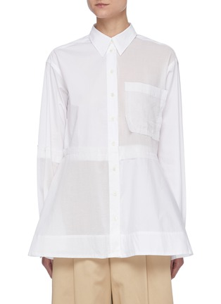 Main View - Click To Enlarge - JW ANDERSON - Flare hem panel cotton shirt