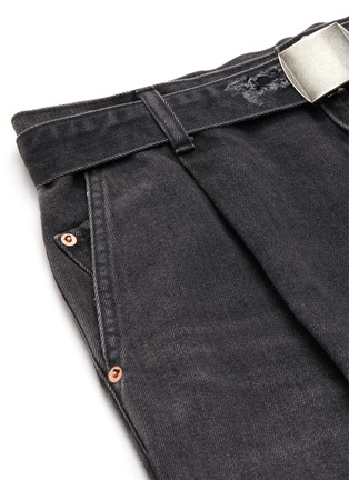 - DOUBLET - Pleated distressed jeans