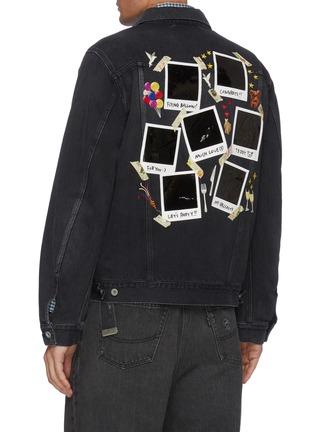 Back View - Click To Enlarge - DOUBLET - Memorial polaroid back denim jacket