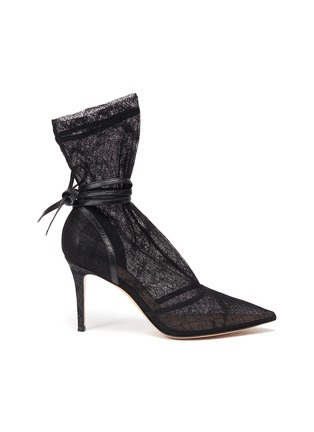 Main View - Click To Enlarge - GIANVITO ROSSI - Rochelle' strappy lace boots