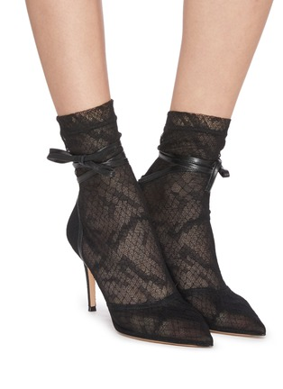 Figure View - Click To Enlarge - GIANVITO ROSSI - Rochelle' strappy lace boots