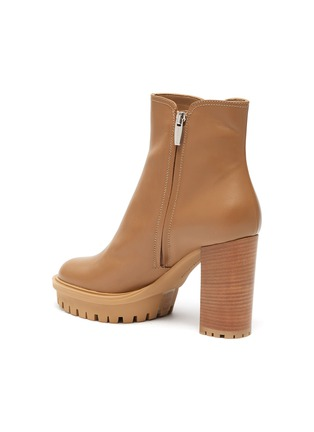 - GIANVITO ROSSI - Platform leather boots