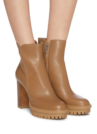 Figure View - Click To Enlarge - GIANVITO ROSSI - Platform leather boots