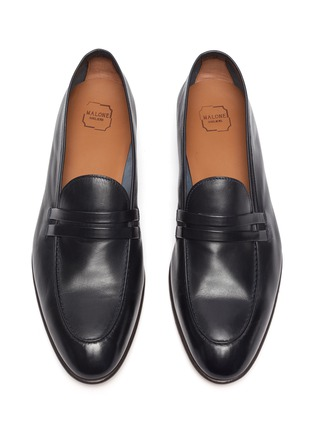 Detail View - Click To Enlarge - MALONE SOULIERS - Luca' Double Strap Leather Penny Loafers