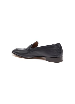 - MALONE SOULIERS - Luca' Double Strap Leather Penny Loafers