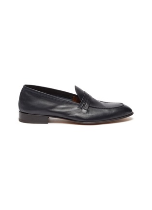 Main View - Click To Enlarge - MALONE SOULIERS - Luca' Double Strap Leather Penny Loafers