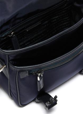 Detail View - Click To Enlarge - PRADA - Logo Plaque Foldover Top Nylon Messenger Bag