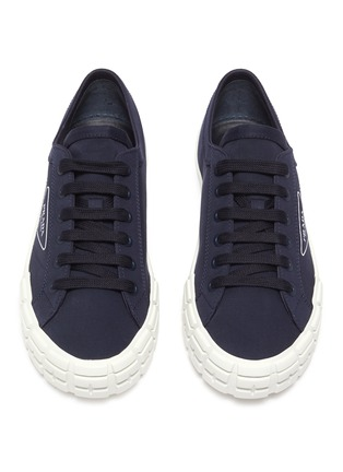 Detail View - Click To Enlarge - PRADA - Tyre Sole Canvas Sneakers
