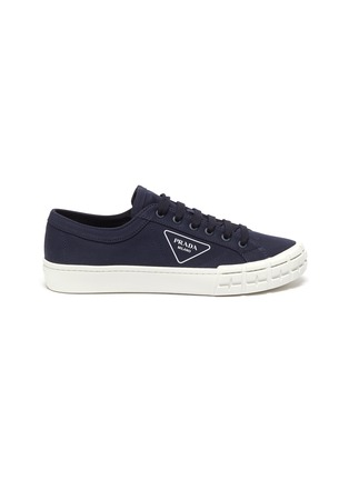 Main View - Click To Enlarge - PRADA - Tyre Sole Canvas Sneakers