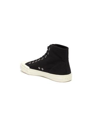 - PRADA - Logo Print High Top Lace Up Sneakers