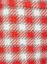 - OSCAR DE LA RENTA - Fray Hem Check Virgin Wool Shorts
